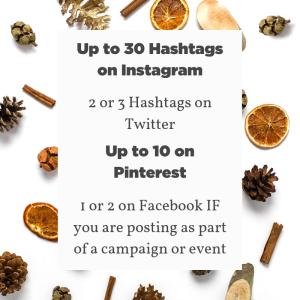 optimal hashtag use for different social media platforms