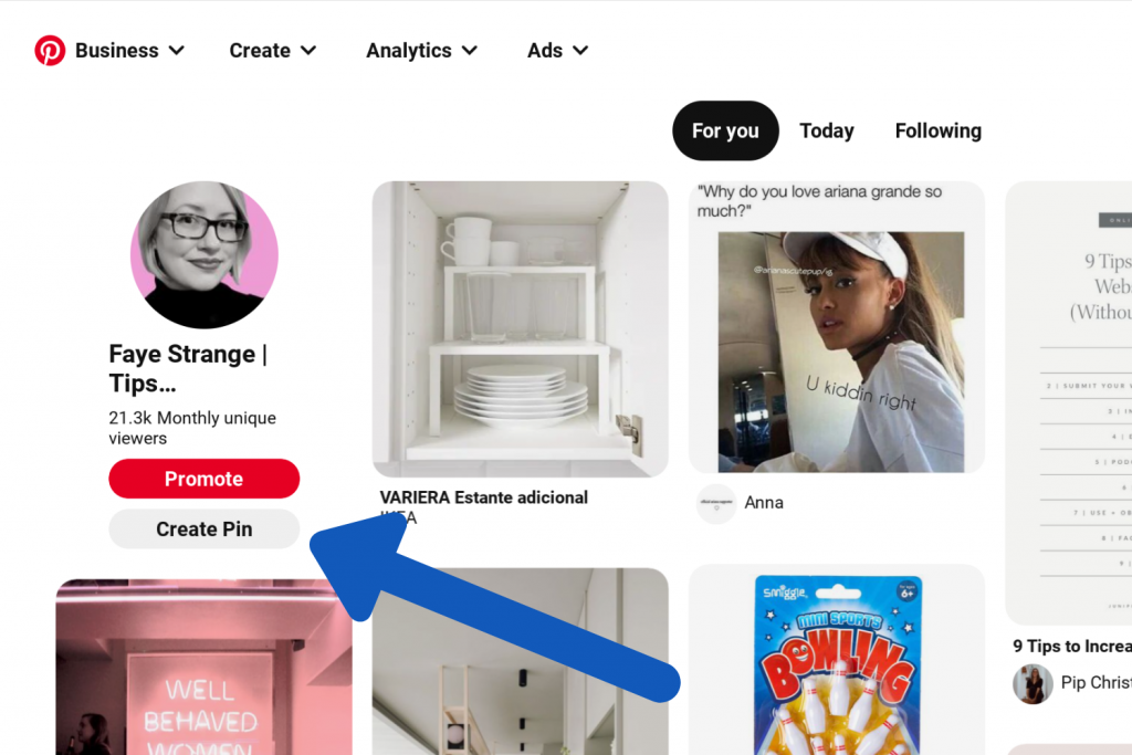 How to create a pin on pinterest